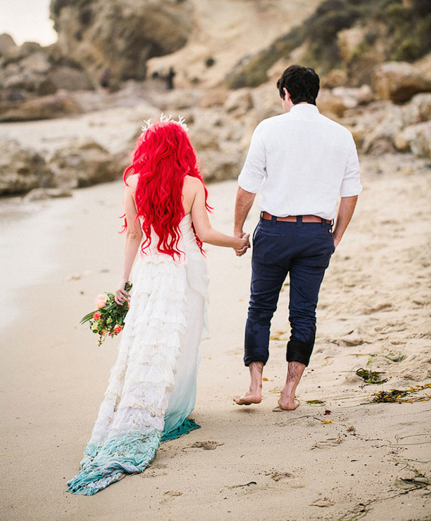 Under the sea mermaid themed wedding for Ocean themed wedding dress