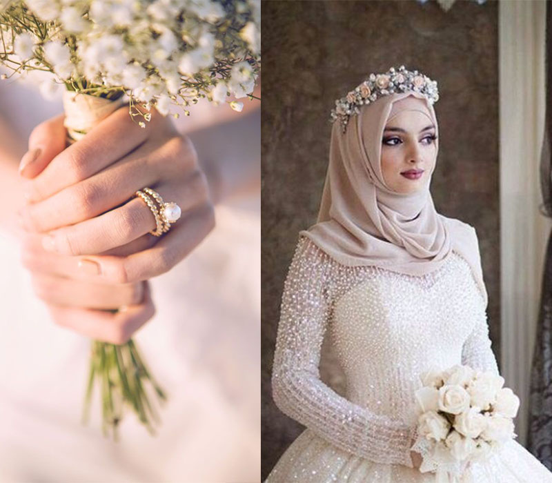2018 wedding trends pearl wedding ring pearl head crown for brides