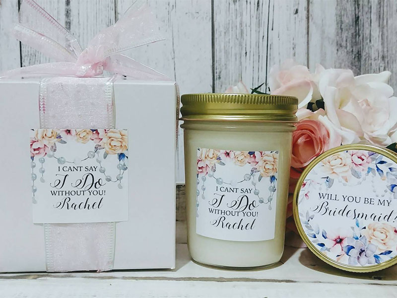 bridesmaid proposal ideas handmade candles