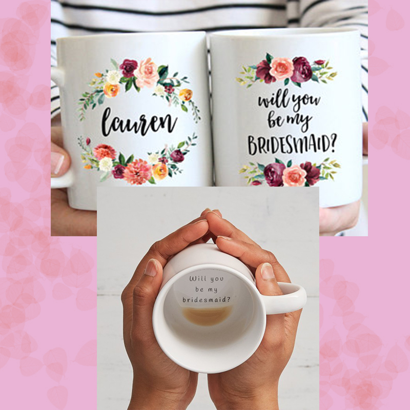 bridesmaid personalized mugs bridesmaid proposal ideas