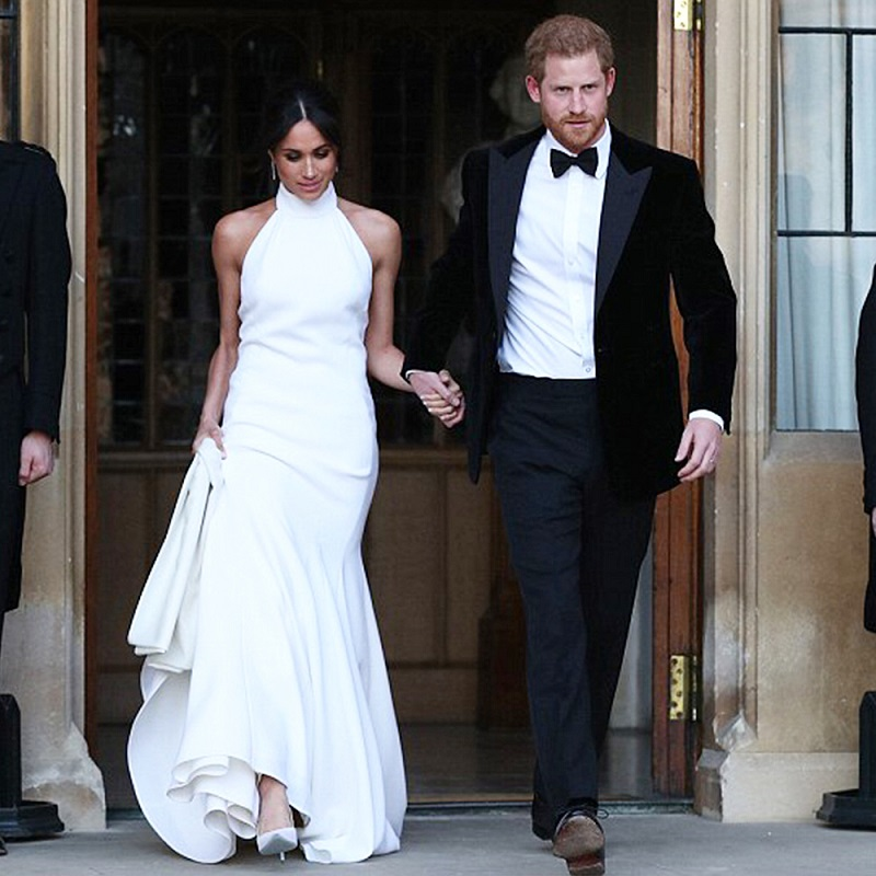 royal couple walking