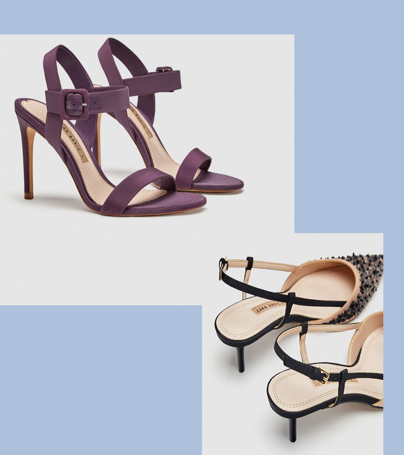 zara slingbacks stilettos for wedding