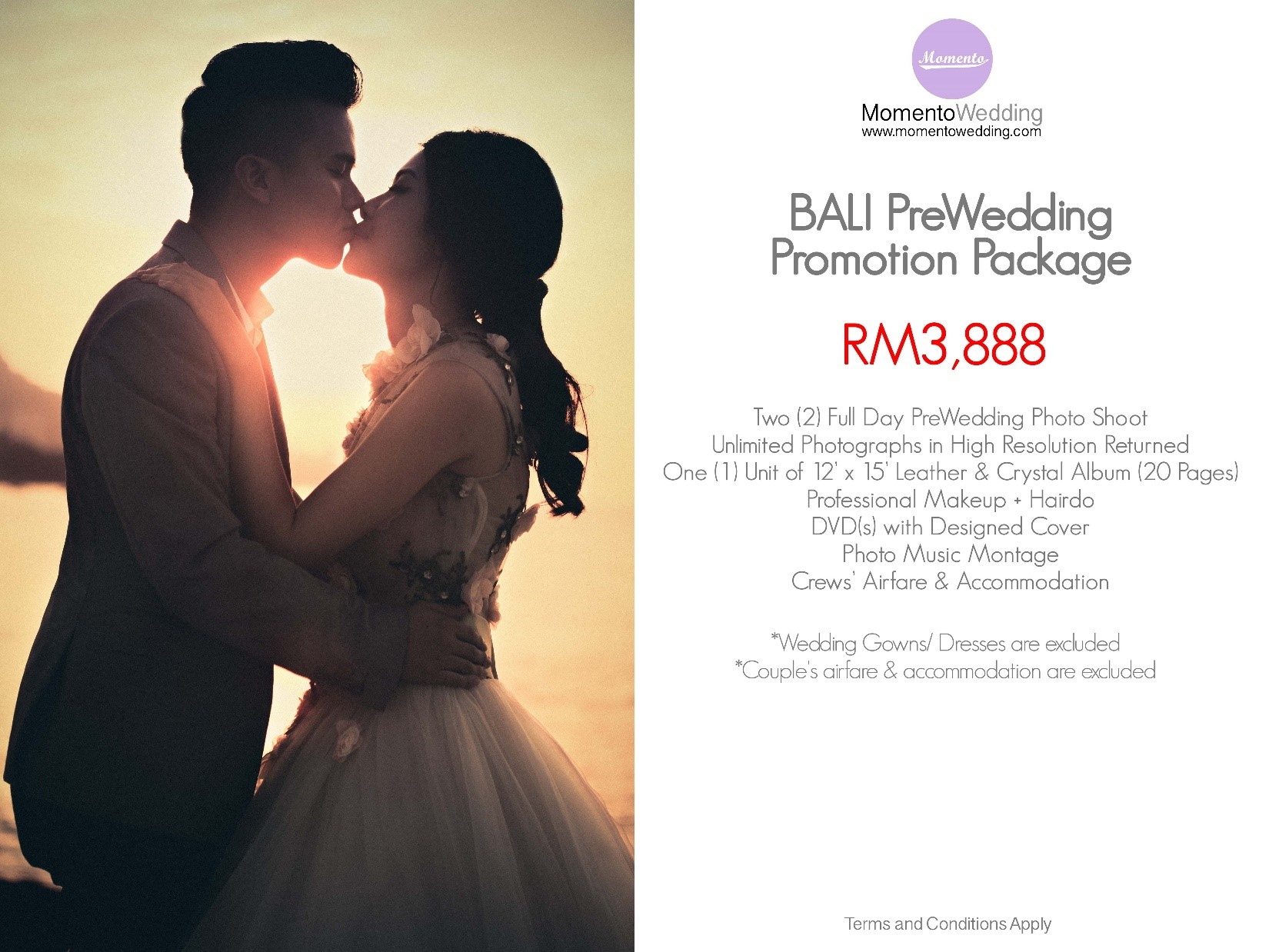 Pre Wedding Promotion Package Bali