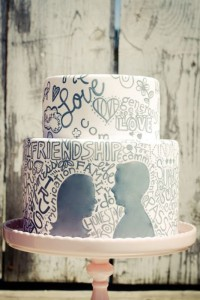 black-and-white-graffiti-wedding-cake