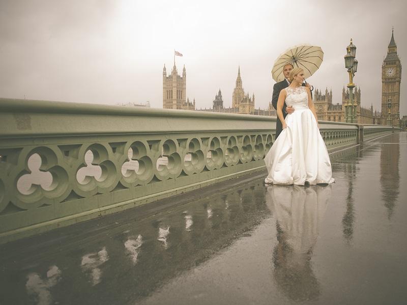 A London Engagement shoot Big Ben