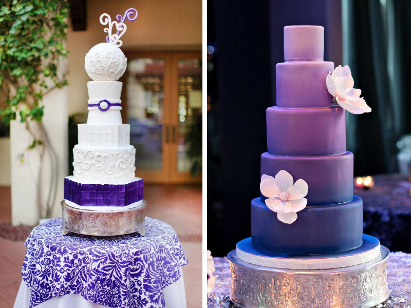 Indigo Wedding Cake