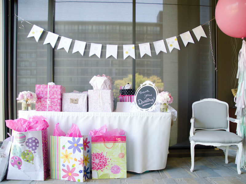Bridal Shower Gifts Table