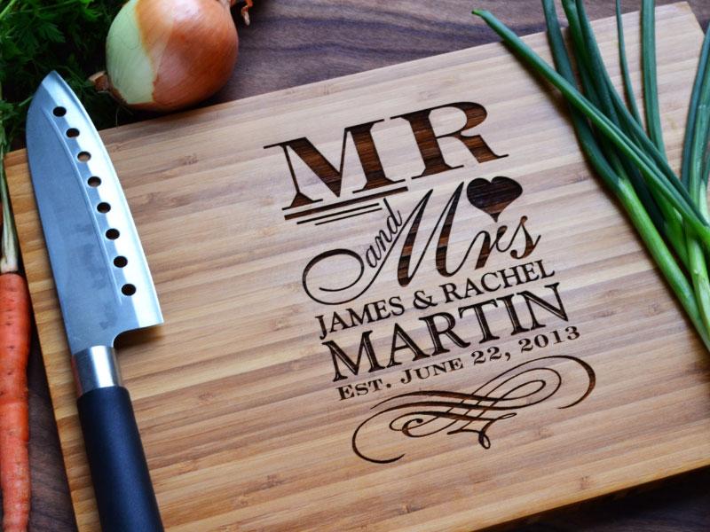 Personalized Chopping Board Wedding Gift