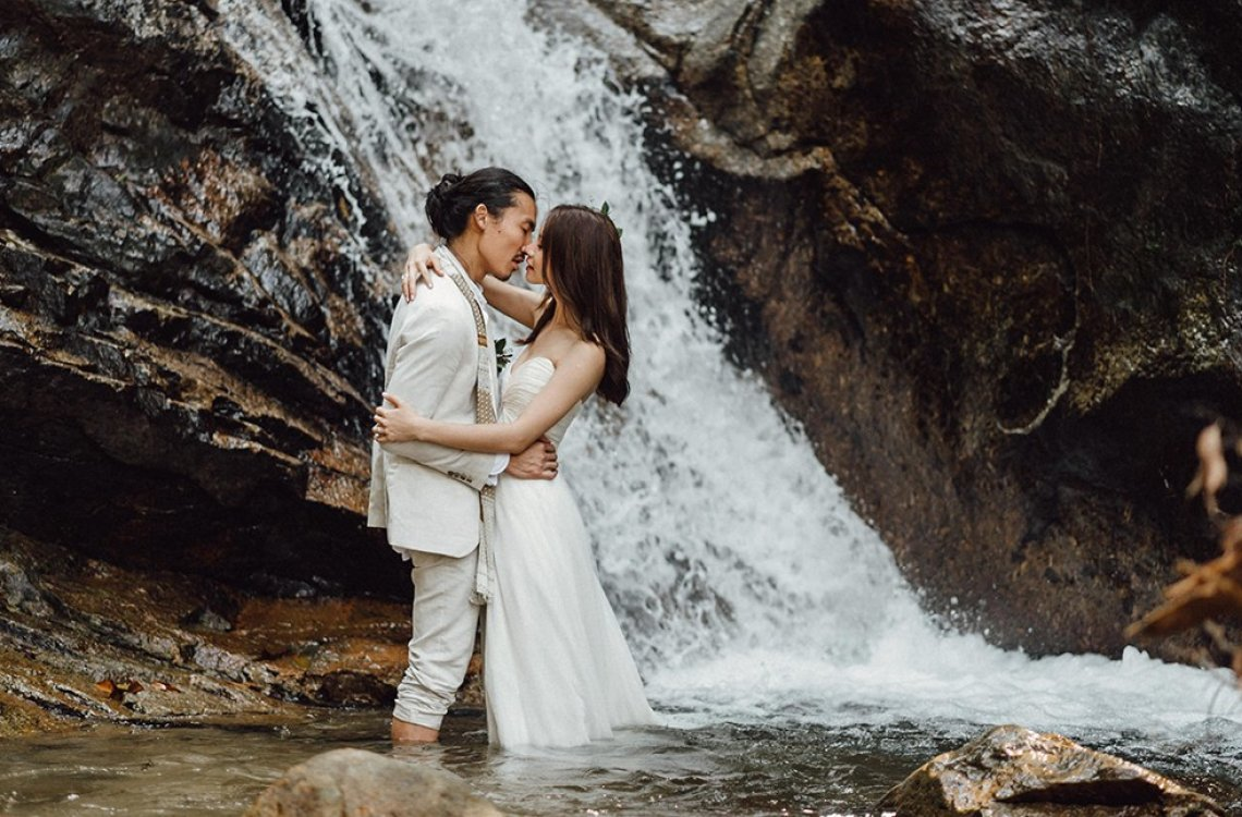 Hannah & Joshua | Magical Wedding Under The Waterfalls