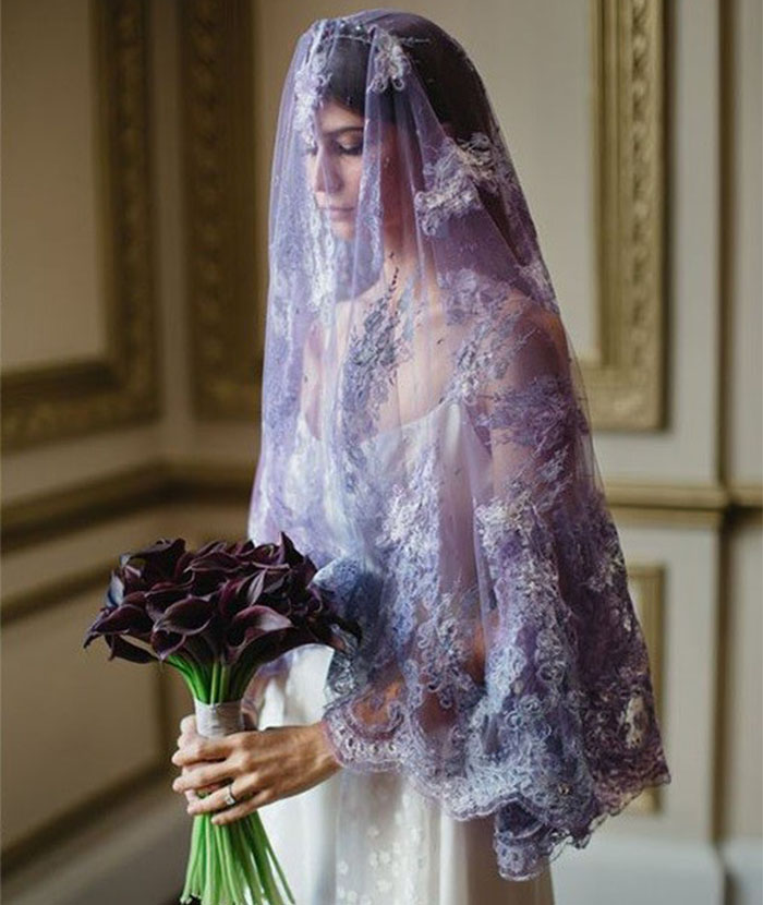 2018 trends purple lace wedding viel ideas