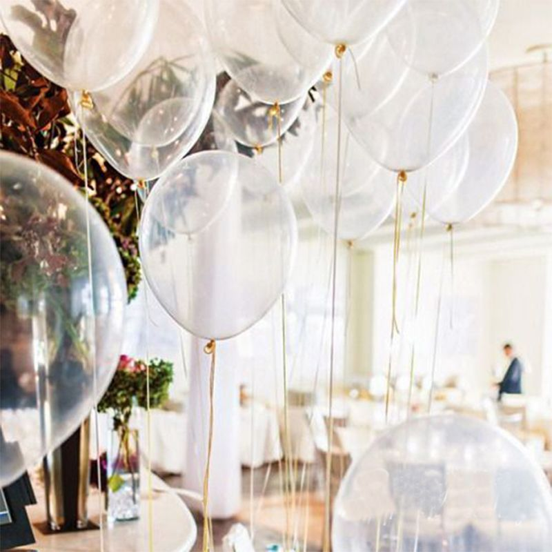 wedding decoration ideas transparent balloons 2018 trends