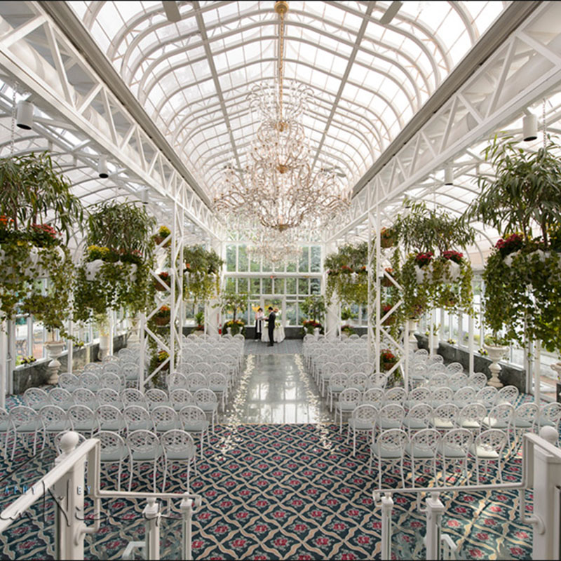 wedding venue ideas transparent glass 2018 trends