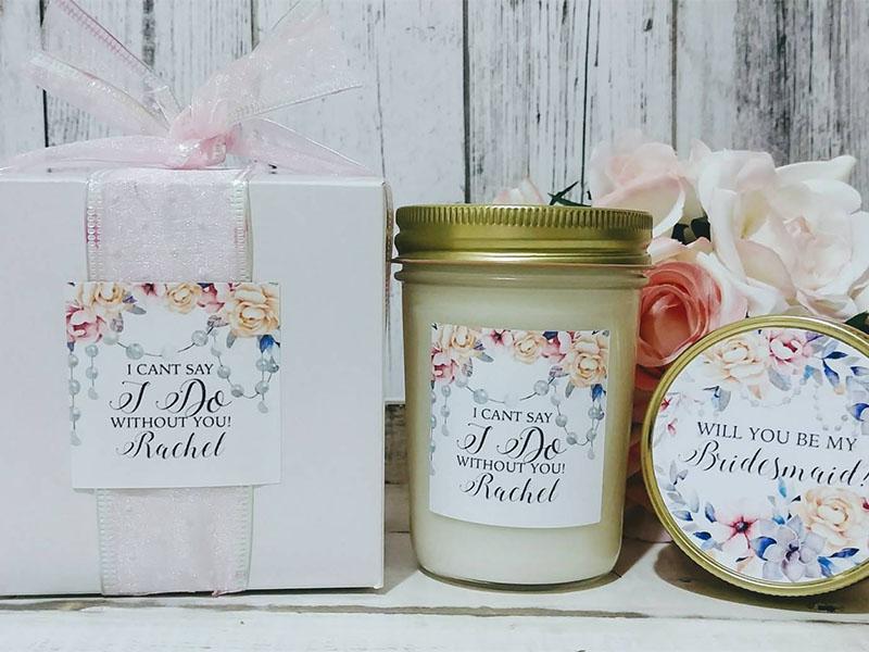 bridesmaid proposal ideas handmade candles