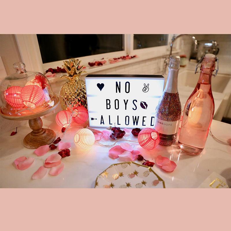 bridesmaid proposal idea movie night